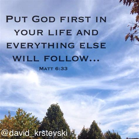 putting god first place in your life a mistake you don t david krstevski on twitter quot put god first in your life