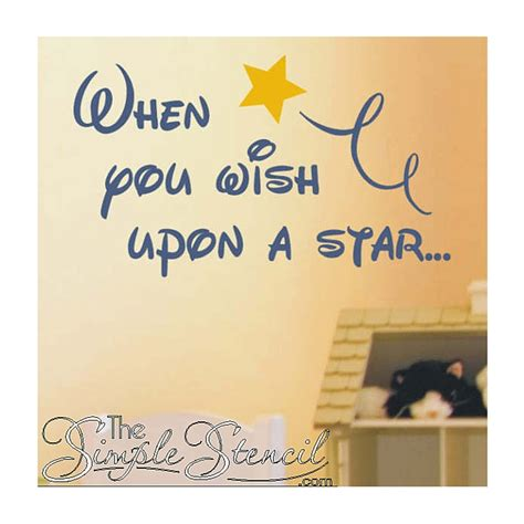 when you wish upon a wall sticker when you wish upon a custom vinyl disney wall lettering decals the simple stencil