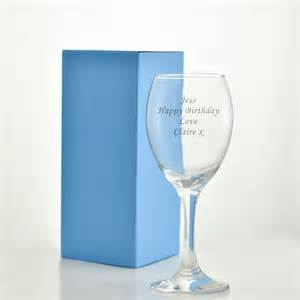 Glassware Gifts Engraved Wine Glass With Luxury Gift Bag And Box Engraved