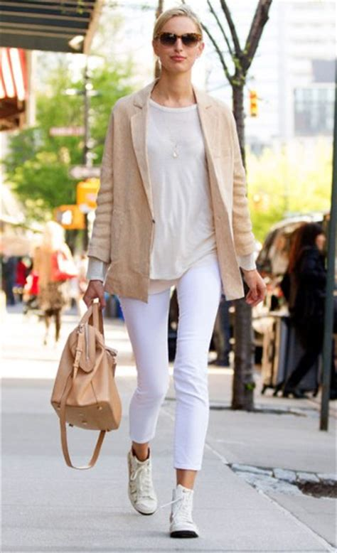 celebrity style trainers 6 ways to style a pair of white trainers fashion