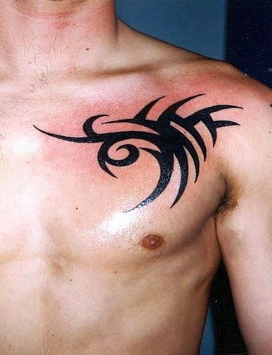simple chest tattoos 45 tribal chest tattoos for