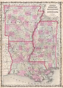 antique maps of arkansas louisiana and mississippi