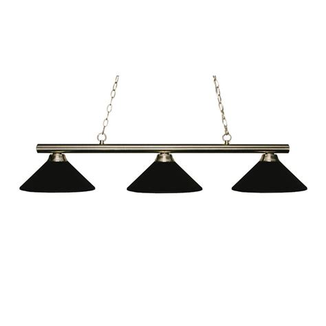 Pool Table Lights Lowes by Shop Z Lite Sharp Shooter Brushed Nickel Pool Table