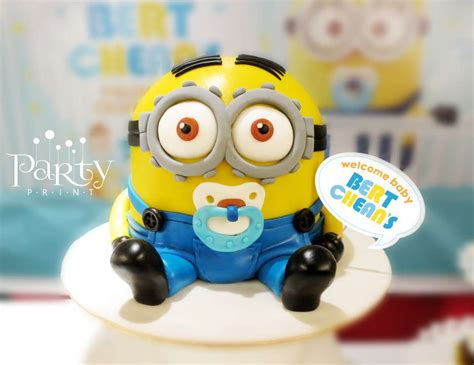 Baby Minion Baby Shower by Despicable Me Minions Baby Shower Quot Welcome Baby Bert