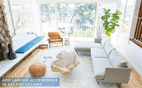 how to add color to a neutral living room blue and neutral living room peenmedia