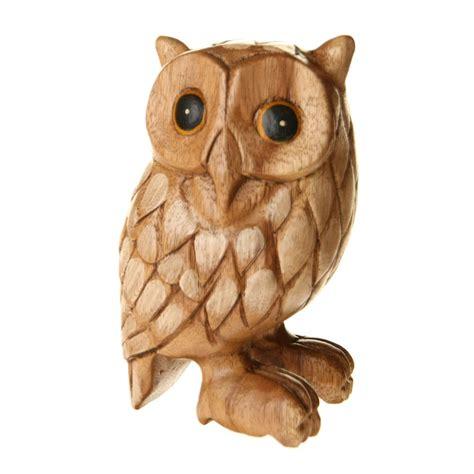 fair trade wooden owl carving  fair trade product