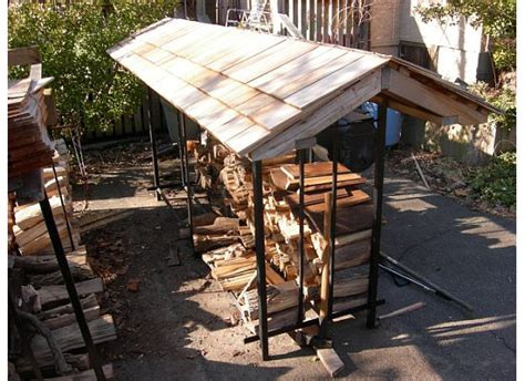 Firewood Rack Roof by Back Studio