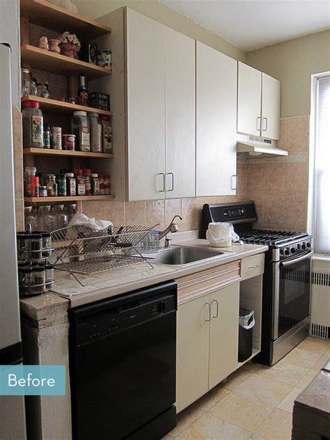 kitchen makeover before and after before and after an affordable galley kitchen makeover