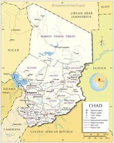 Chad Africa Map by Map Of Chad Republic Of Chad Maps Mapsof Net