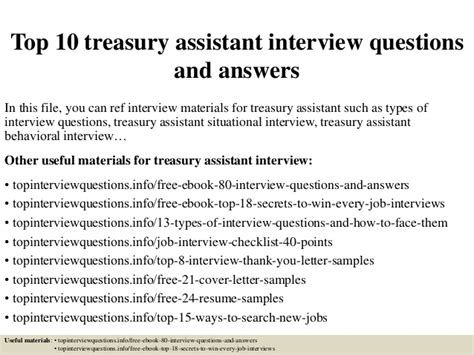 Resume 5 Years After College by Top 10 Treasury Assistant Questions And Answers