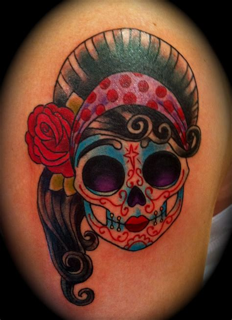 feminine sugar skull tattoo designs skull tattoos page 84