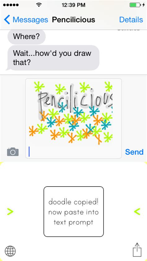 doodle 4 email pencilicious doodle message keyboard ios