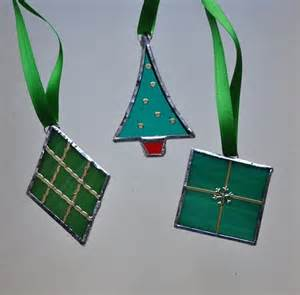 Knitting Patterns For Christmas Ornaments - stained glass boxed green christmas decorations folksy