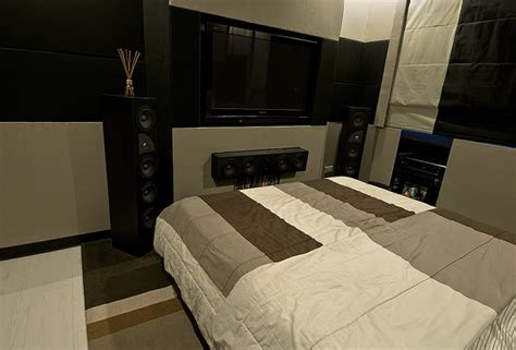 awesome bedroom home theater setups hooked  installs