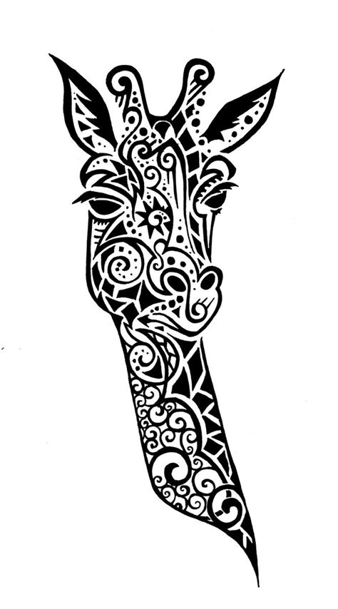 tribal pattern giraffe free coloring pages of maori pattern