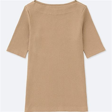 boat neck long sleeve t shirt women ribbed boat neck half sleeve t shirt uniqlo us