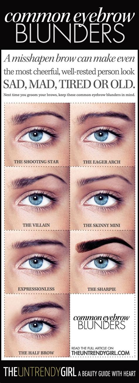 most common eyebrow shape a misshapen brow can make even the most cheerful well