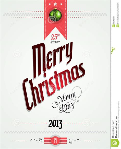 christmas menu of the day template royalty free stock