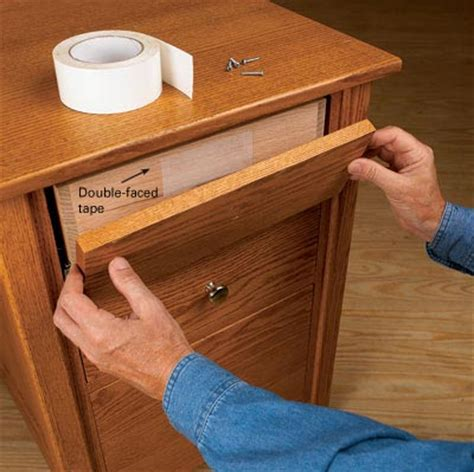 positioning for drawer fronts