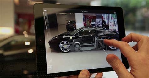 Auto Design App ferrari shows off augmented reality showroom app video