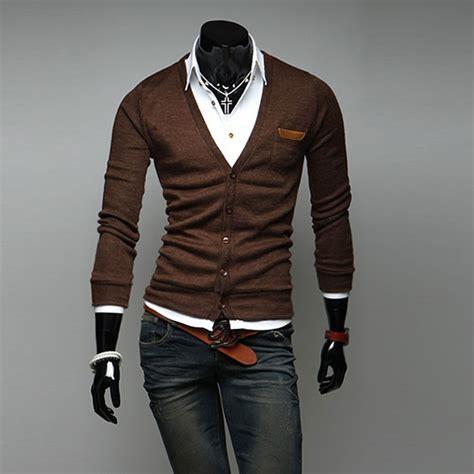 Sweater Slank nagelneu fashion herrenmode schlank sweater pullover tief