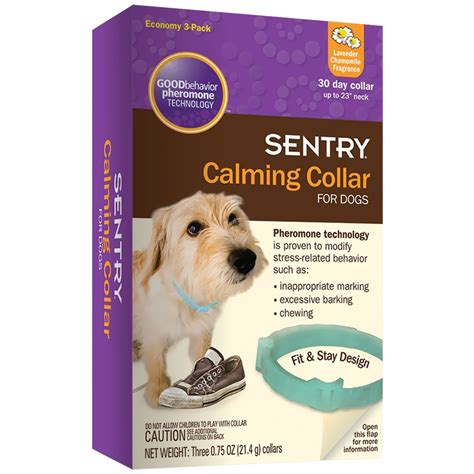 calming collar for dogs sentry calming collar for dogs 3 pack