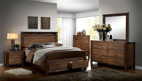 elkton oak platform storage bedroom set cmq furniture  america
