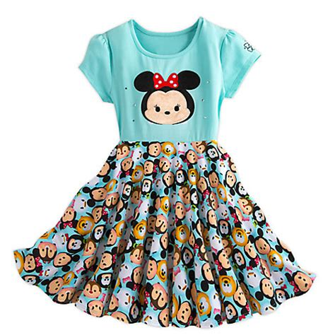 Tsum Tsum Satin Dress your wdw store disney dress tsum tsum minnie mouse and friends