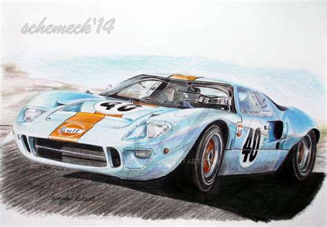 68 ford gt40 ford gt40 68 by schemeck on deviantart