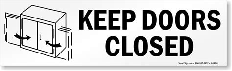 how to keep cabinet doors closed keep door closed signs do not prop door open signs
