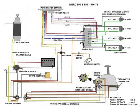 mercury 850 thunderbolt wiring diagram 50 hp mercury