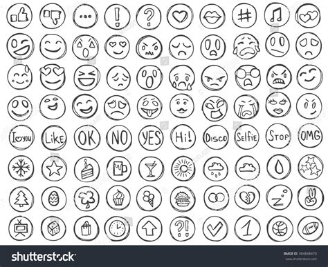 how to do smiley on doodle fit emoticons doodle set emoji collection avatars and smiles