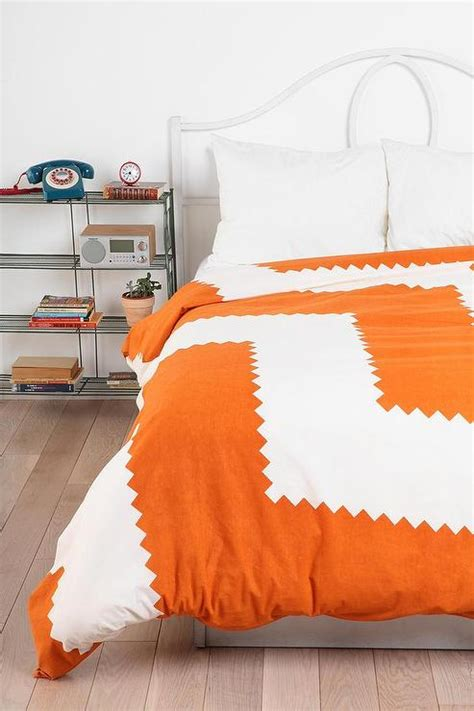 orange and white comforter magical thinking geo kansai duvet cover urban outfitters