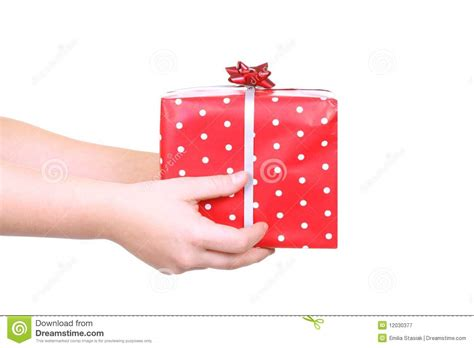 christmas gift giving royalty free stock photography