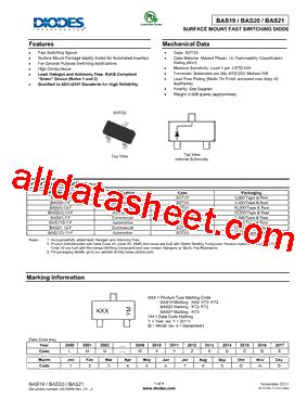 diodes inc us1j 13 f bas21 13 f datasheet pdf diodes incorporated