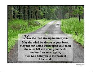 May the road rise up to meet you freeology