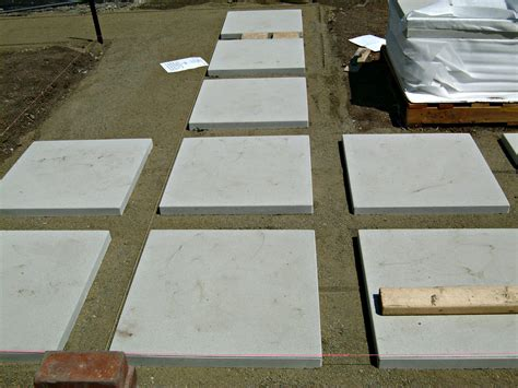 concrete patio pavers how to install 24 quot concrete pavers lynda makara