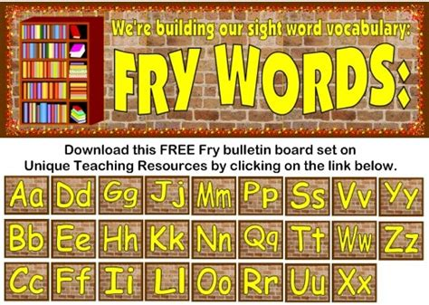 fry 1000 instant words for teaching reading free flash
