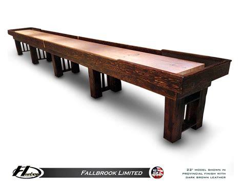 9 ft shuffleboard table 9 foot hudson fallbrook limited shuffleboard table made