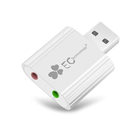 C Tech Adapter Usb To Sound usb sound adapter ec technology aluminum external usb sound card audio adapter with 3 5mm