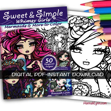 libro sweet simple whimsy pdf sweet simple whimsy girls coloring book instant download