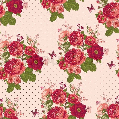 fondo de flores vintage beautiful vintage seamless roses background with
