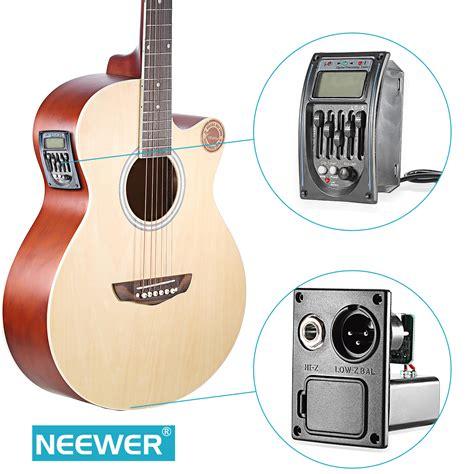Gitar Akustik Equalizer Digitar neewer acoustic 5 band eq equalizer guitar pre piezo
