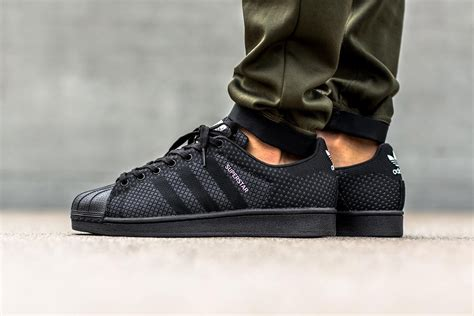 Adidas Originals Black adidas originals superstar weave black hypebeast