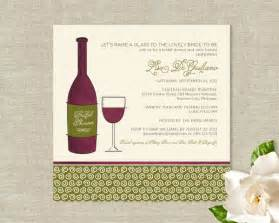 wine themed bridal shower items similar to wine theme bridal shower invitations bottle and glass on etsy