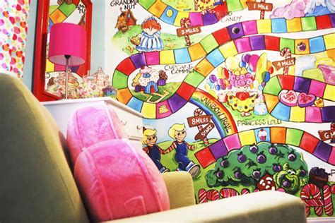 candyland wall mural fabulous k home tour poppie s land nursery