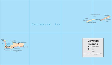 cayman islands map caribbean cayman islands map detailed map of the cayman islands