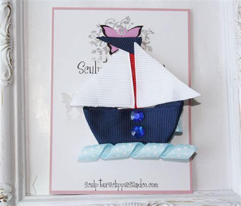 bow clip boat nautical sailboat ribbon sculpture bow boat sailing