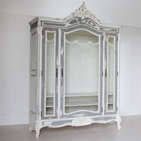 Glass Fronted Wardrobes by Large Glass Fronted Armoire Wardrobes