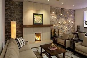 dekobeispiele wohnzimmer 22 acogedoras salas con paredes de piedra
